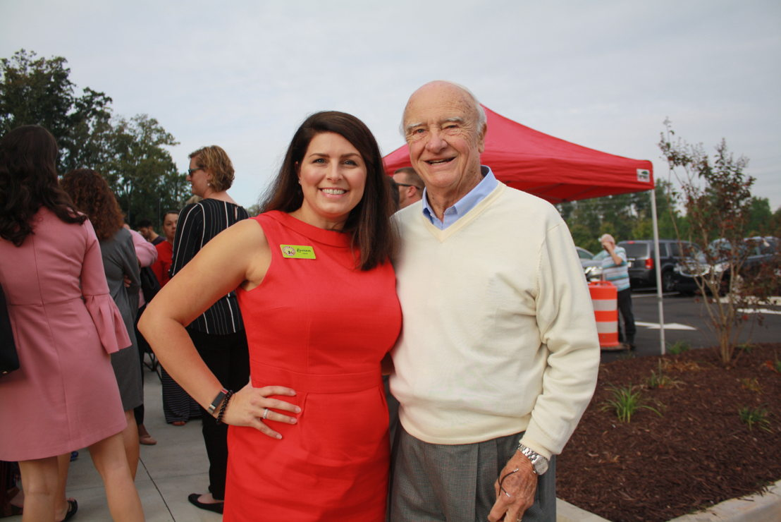 Lauren Fernandez, owner and McDonough Mayor Billy Copeland (credit Henry County Chamber of Commerce)