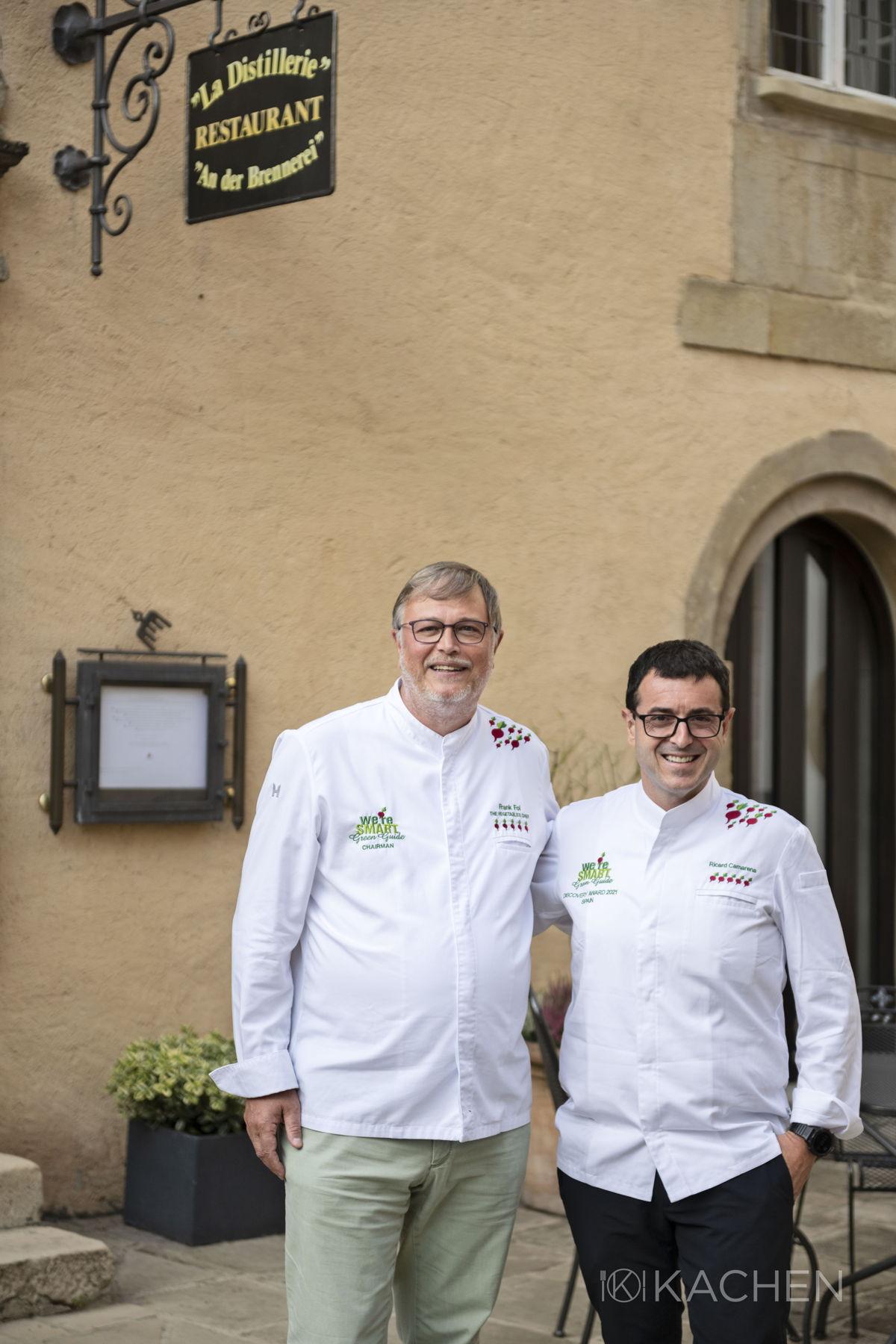 Frank Fol and Chef Ricard Camarena (Ricard Camarena) - winner We