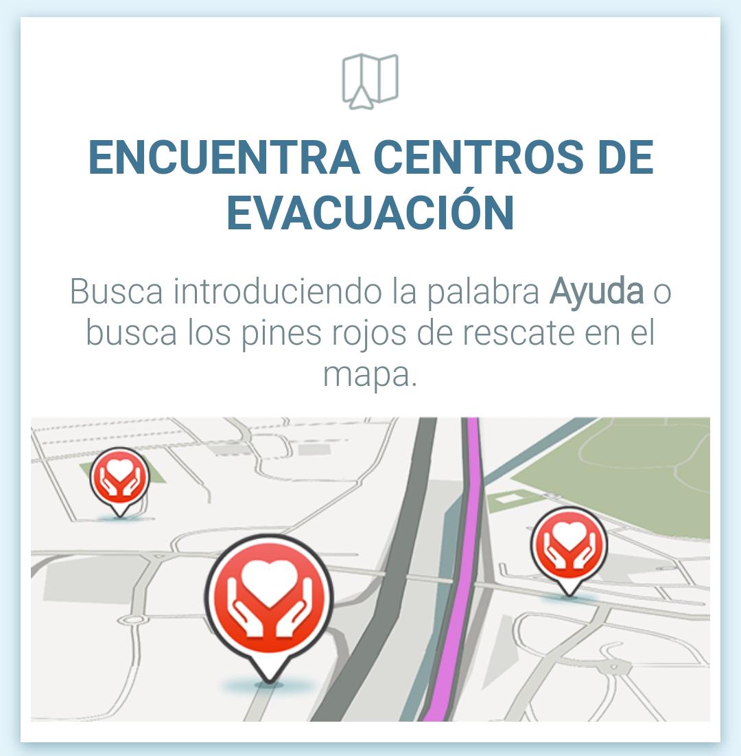 Encuentra centros de evacuación