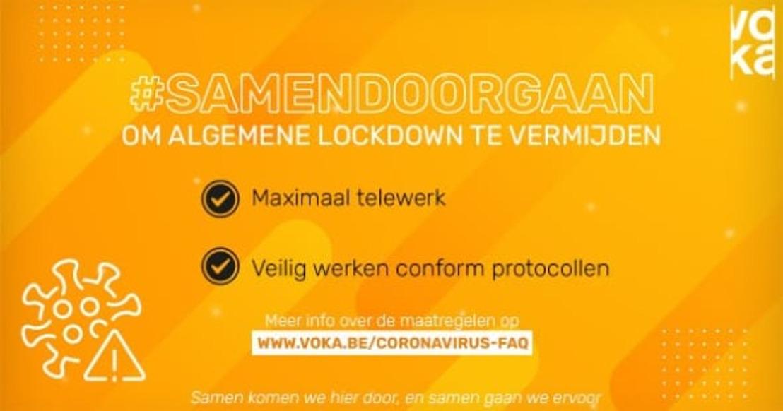 Voka West-Vlaanderen roept ondernemingen op om maximaal te telewerken en de veiligheidsmaatregelen strikt te volgen