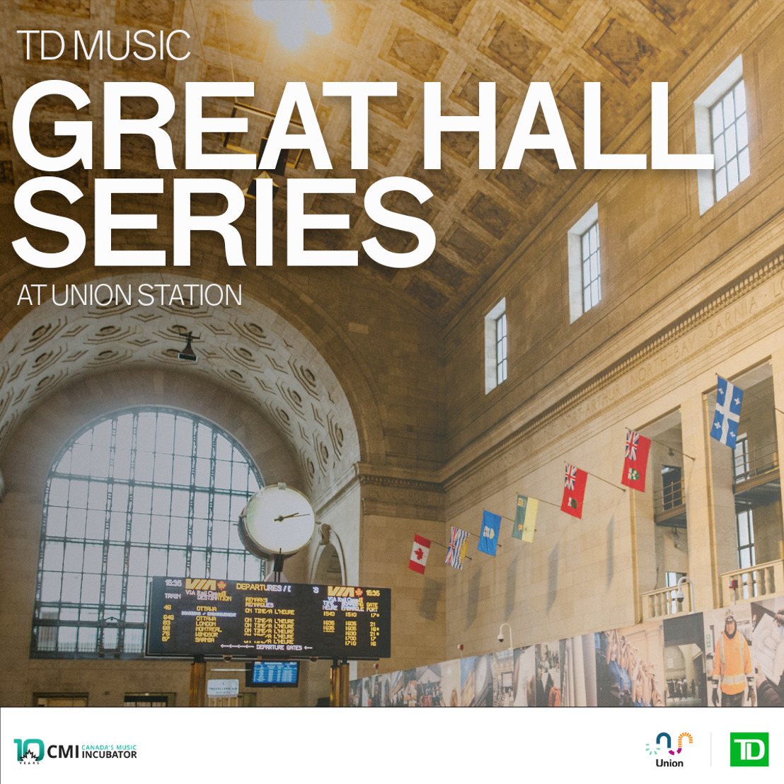 TD Music Great Hall Series Launches At Union Station