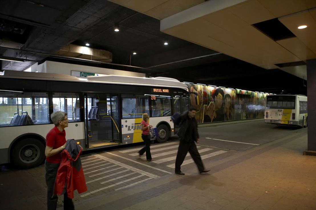 Vrijdag opnieuw bussen De Lijn naar Brussel Noord