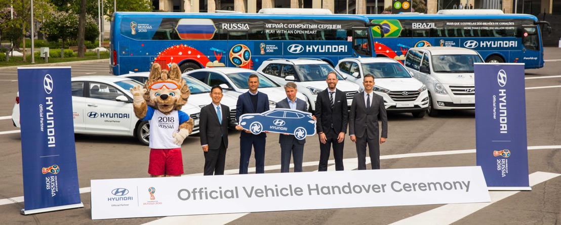 Hyundai Motor Passes Vehicle Fleet to the World's Biggest Sporting Tournament, the 2018 FIFA World Cup Russia™