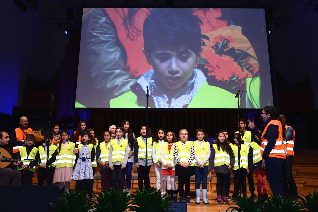De eerste lichting van de leerlingen Arabische taal, op 29 november van vorig jaar tijdens  een driedaags congres over vluchtelingen en migratie en de rol van hoger onderwijs als middel tot een beter integratie