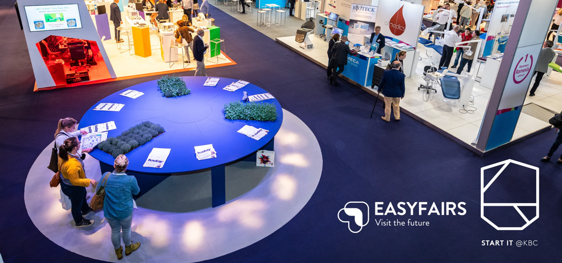 Sales of start-ups increase through partnership between Start it@KBC and exhibition organizer Easyfairs.