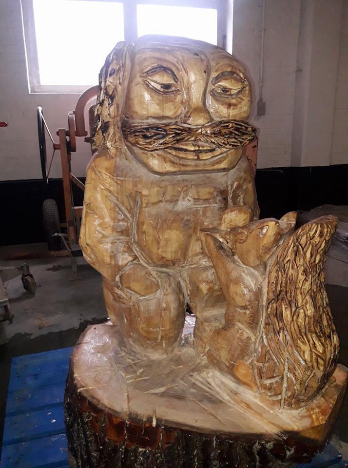 Houtsculptuur Kessel-Lo