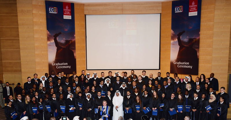 Dignitaries and Graduates at the Emirates Group Security Graduation Ceremony