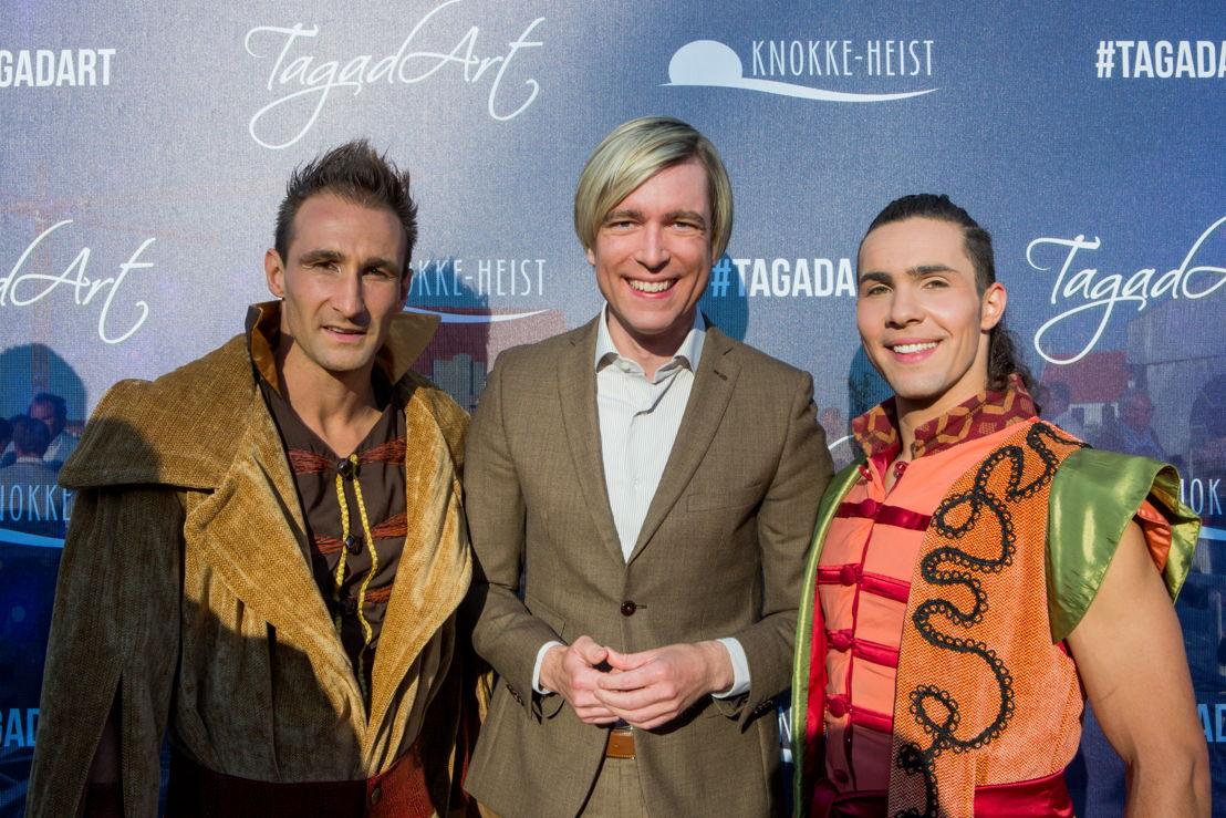 Showbizz Bart op de première van Tagad'Art