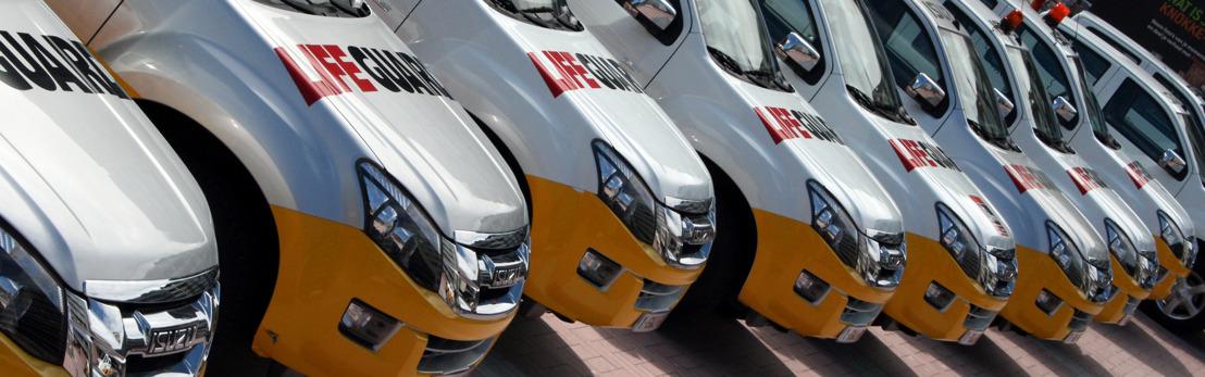 Isuzu livre 11 véhicules d'intervention D-Max au service du sauvetage de la côte belge