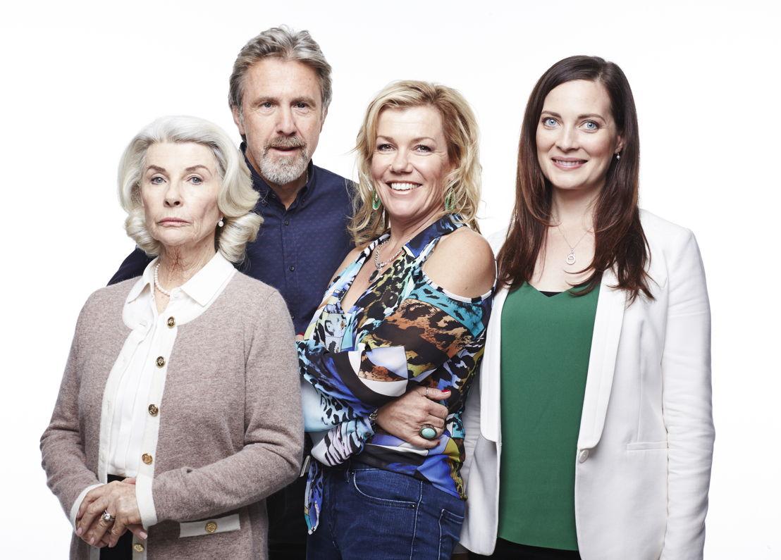 Margaret Denyar (Robyn Nevin), Wayne Wheeler (Glenn Robbins), Julie Wheeler (Robyn Malcolm) and Bess Denyar (Annie Maynard)