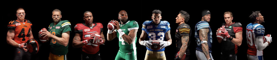adidas CFL home jerseys.