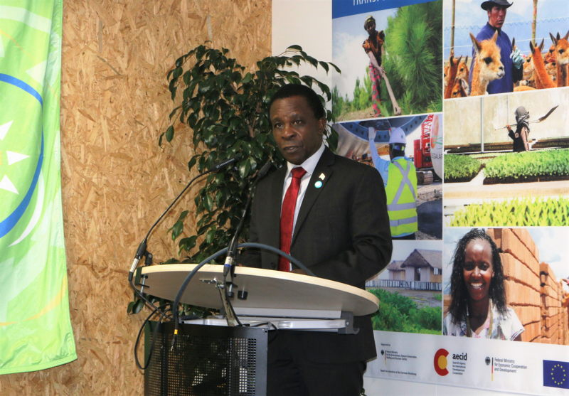 Prime Minister of Grenada, Chair of the World Bank Small States Forum and Chairman of CARICOM, Dr. The Rt. Honourable Keith Mitchell, delivers remarks at the CARICOM-UNDP Side Event at COP23.