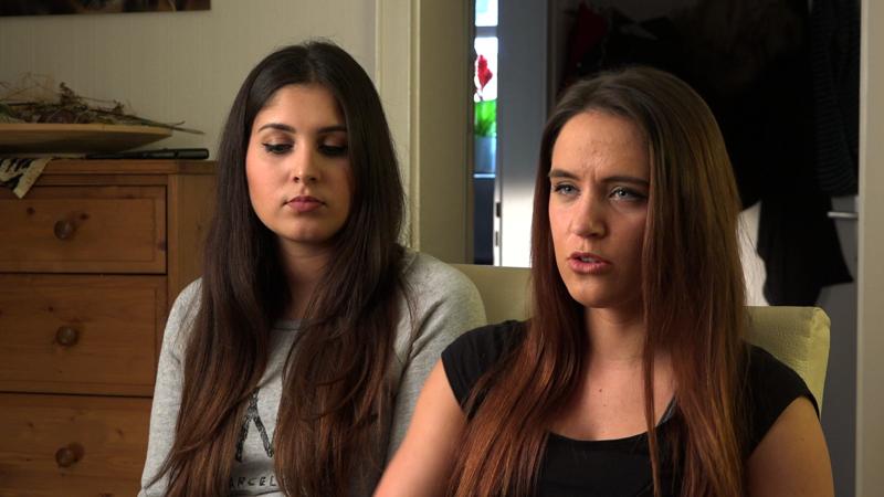 Nina (L) + Michele, NYE witnesses