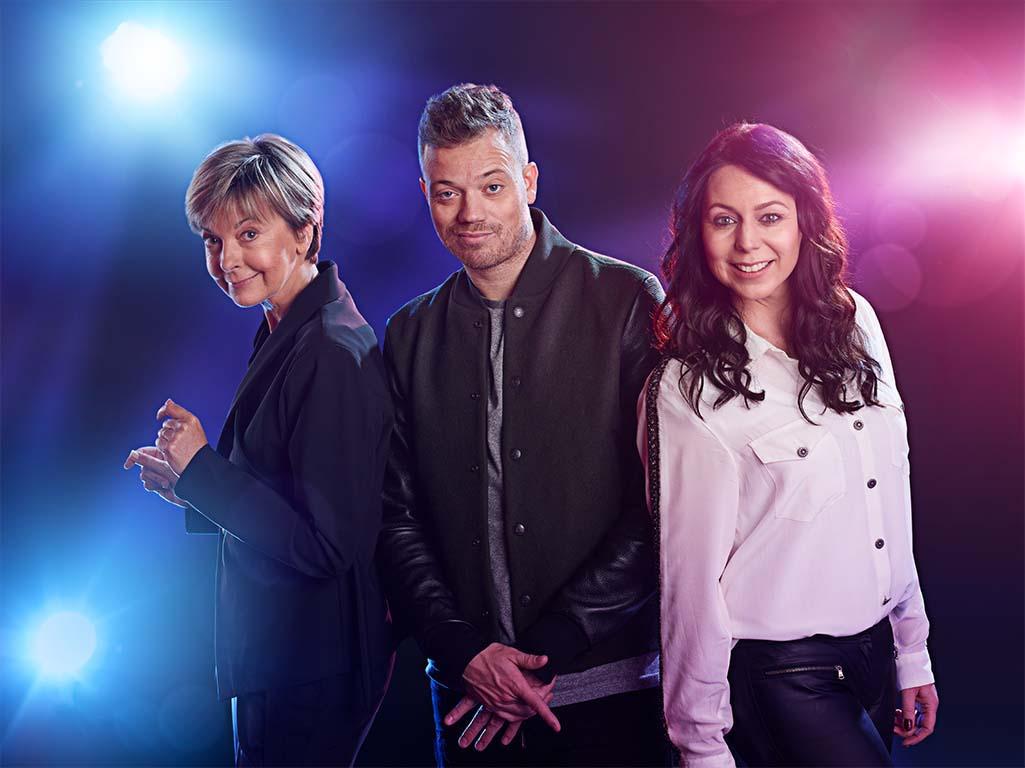 De jury: Ingeborg, Gers Pardoel en Kristel Verbeke (c) VRT