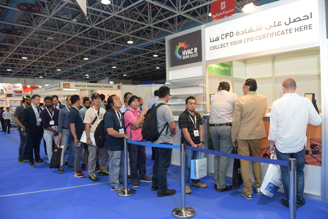 Registration for CPD workshops at HVACR Expo Saudi