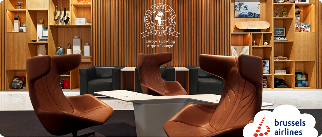 "THE LOFT by Brussels Airlines and Lexus op Brussels Airport is verkozen tot ""Europe's Leading Airport Lounge 2019"""