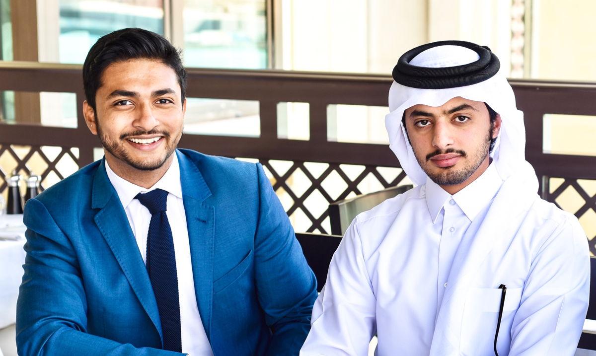 Irshad Jaleel (L) Abdulaziz Alsubaiey (R)