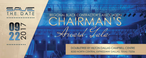 Regional Black Contractors Association of North Texas Inaugural Chairman's Awards Gala