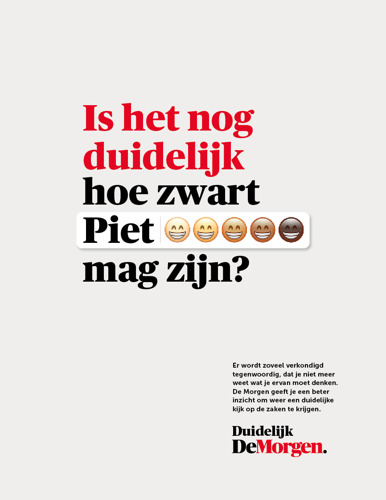 mortierbrigade creates clear publicity for De Morgen with new campaign and baseline: Clearly De Morgen.