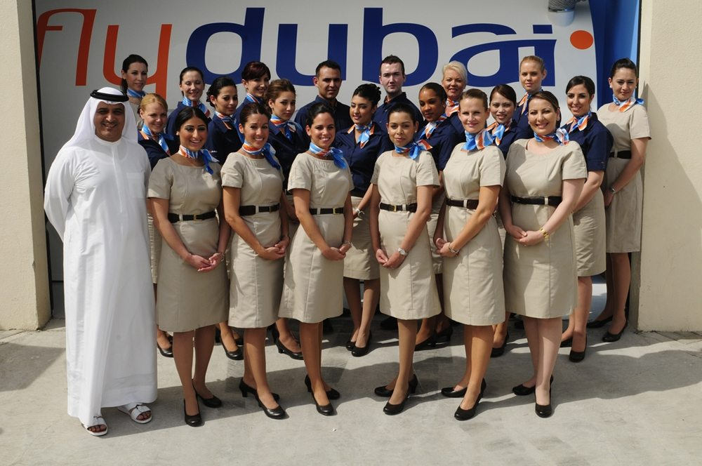 flydubai CEO with the 30th batch of graduating cabin crew