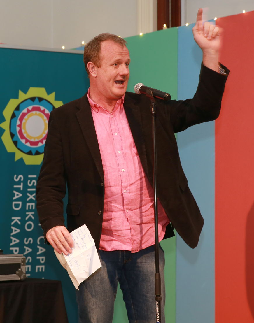 Cape Town Fringe CEO, Tony Lancaster at the Fringe Fresh Awards 2016 - pic Nardus Engelbrecht