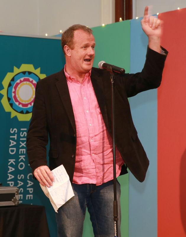Cape Town Fringe CEO, Tony Lancaster at the Fringe Fresh Awards 2016 - pic Nardus Engelbrecht