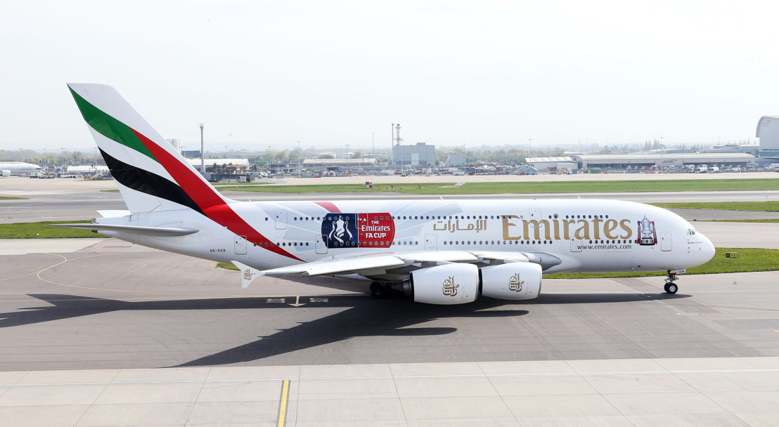 The Emirates FA Cup branded A380