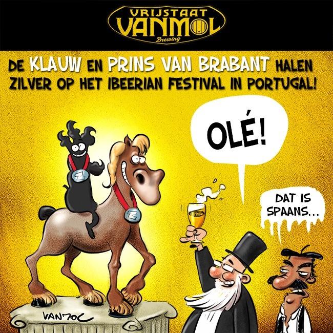Vrijstaat Vanmol sleept twee zilveren medailles in de wacht op internationaal bierconcours