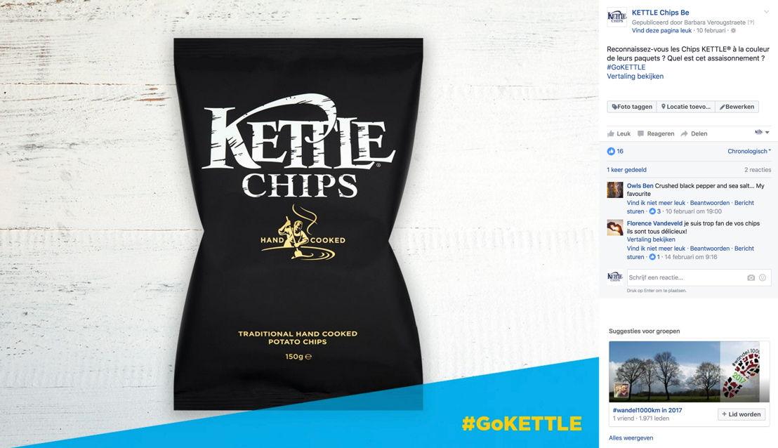 KETTLE® Chips_Page Facebook belge