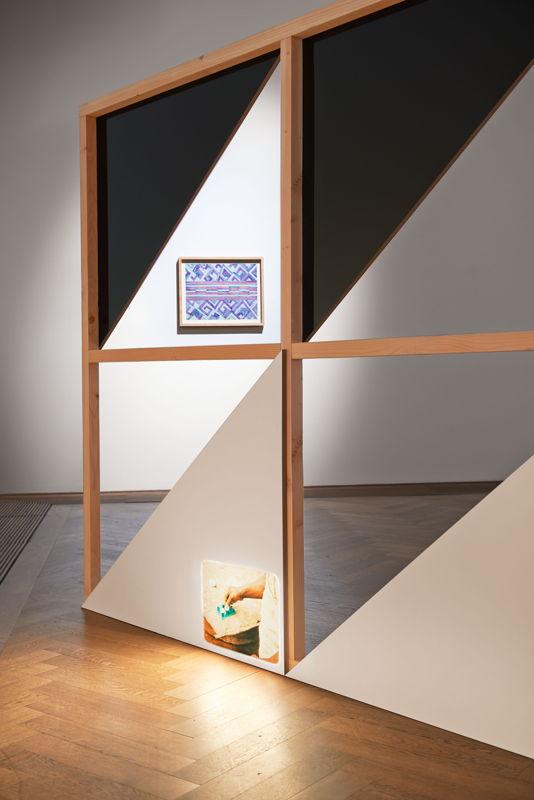 Tshela tendu & Vincent Meessen, Patterns for Re(cognition). Installation view Kunsthalle Basel 2015 Photo © Philipp Hänger
