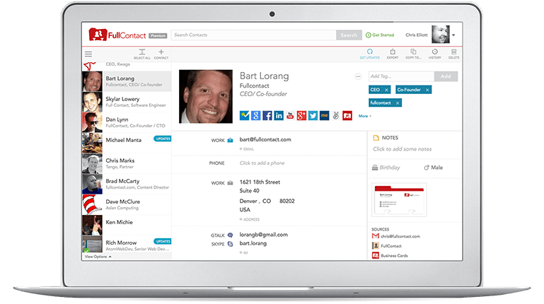 Fullcontact: Enriching Contacts