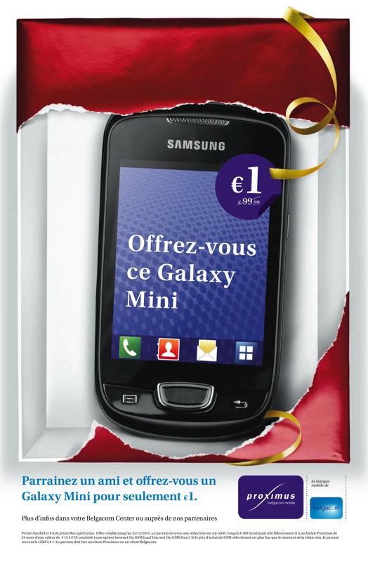 Newspaper - Promo smart phone Samsung Galaxy Mini
