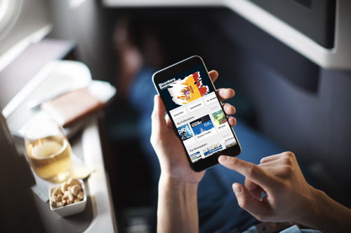 Cathay Pacific provides access to thousands of digital newspapers and magazines via PressReader
