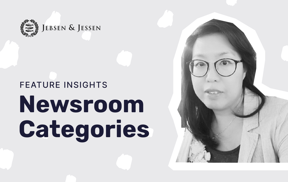 How JJSEA uses categories to structure their newsroom
