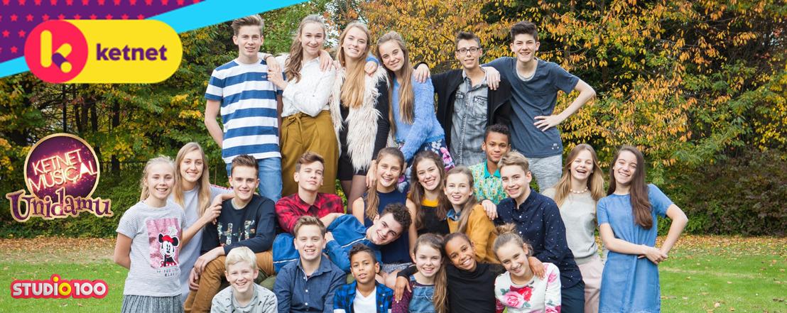 Herman Verbruggen, Sien Wynants en 24 jonge talenten in de cast van Ketnet Musical - Unidamu