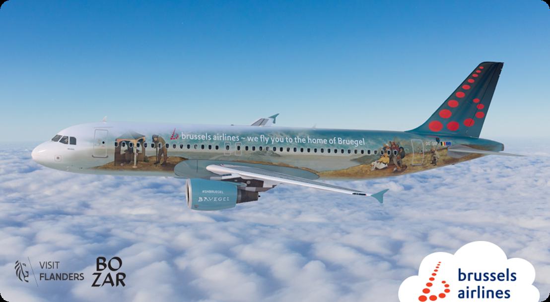 """Brussels Airlines dévoile Bruegel, son sixième """"Belgian Icon"""" en l'honneur du célèbre peintre de la Renaissance"""