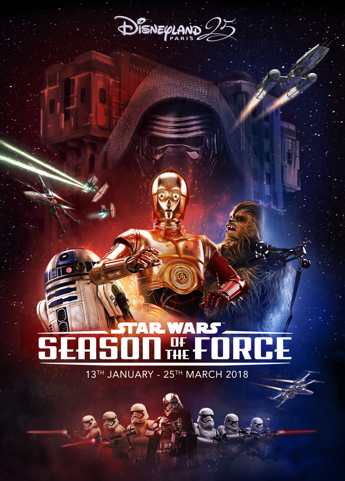 Het STAR WARS seizoen back in FORCE in Disneyland® Paris!