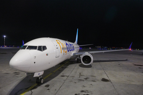 flydubai inaugural flight lands in Helsinki