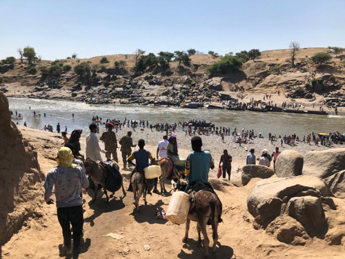 MSF providing medical care and assistance in Sudan to people fleeing violence in Ethiopia