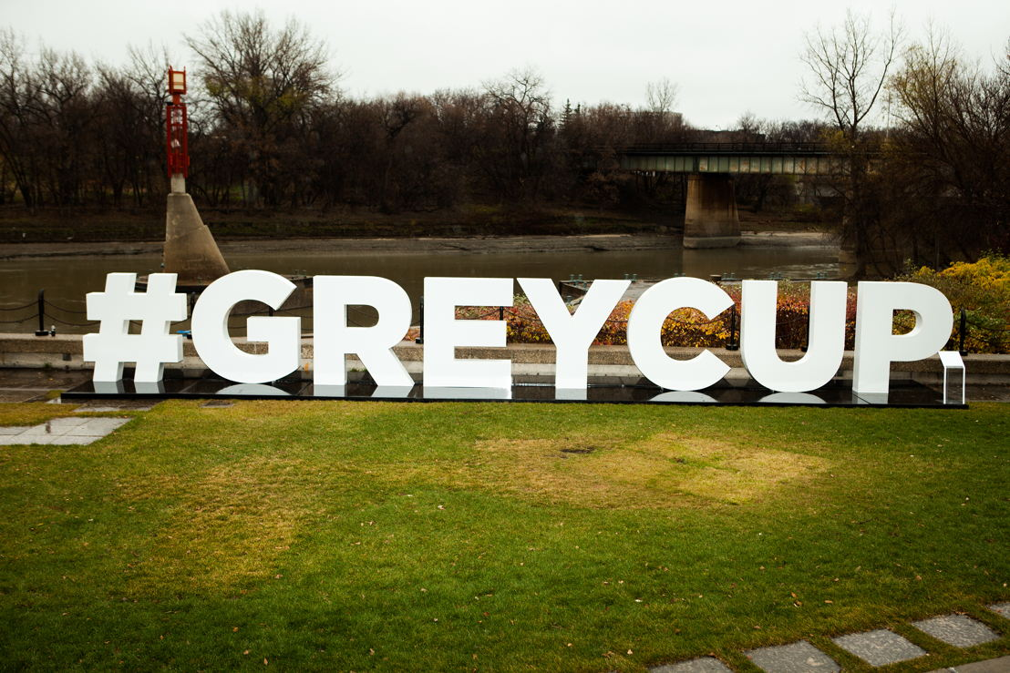 #GreyCup sign in Winnipeg