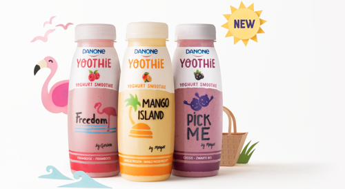 Tune in to the … YOOTHIE generation! Discover our creamy YOghurt & intensely fruity smOOTHIE