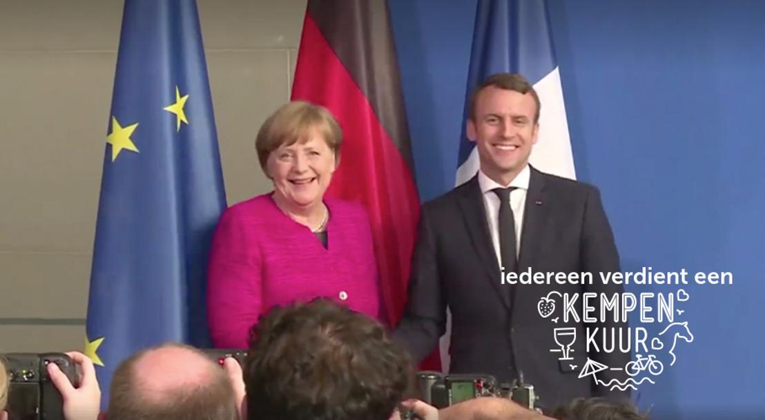 Macron en Merkel gaan viraal met Prophets