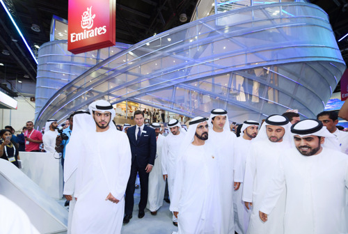 Emirates' 'Infinite Possibilities' Stand Receives Official Royal Visit