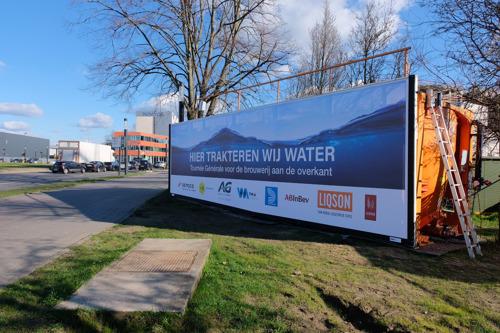 AG Real Estate en de bouwbedrijven MBG en Democo trakteren de Stella Artois brouwerij op werfwater