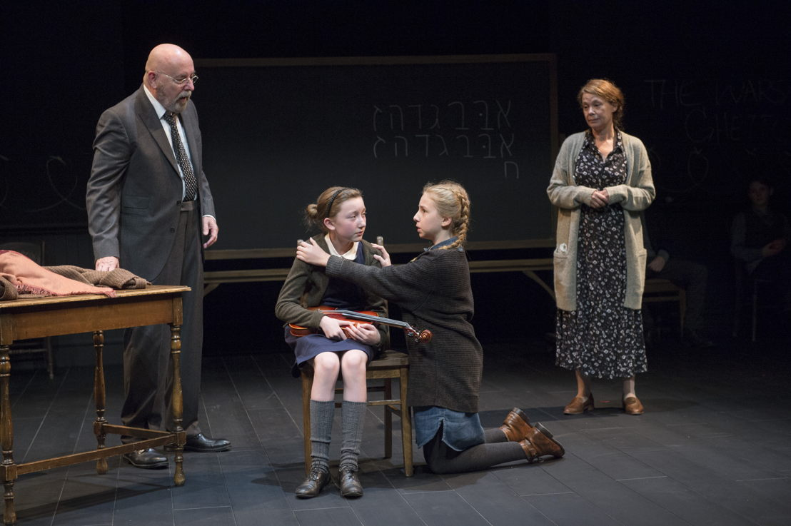 Paul Rainville, Sophia Irene Coopman, Lily Cave, and Kerry Sandomirsky in The Children's Republic by Hannah Moscovitch / Photos by David Cooper