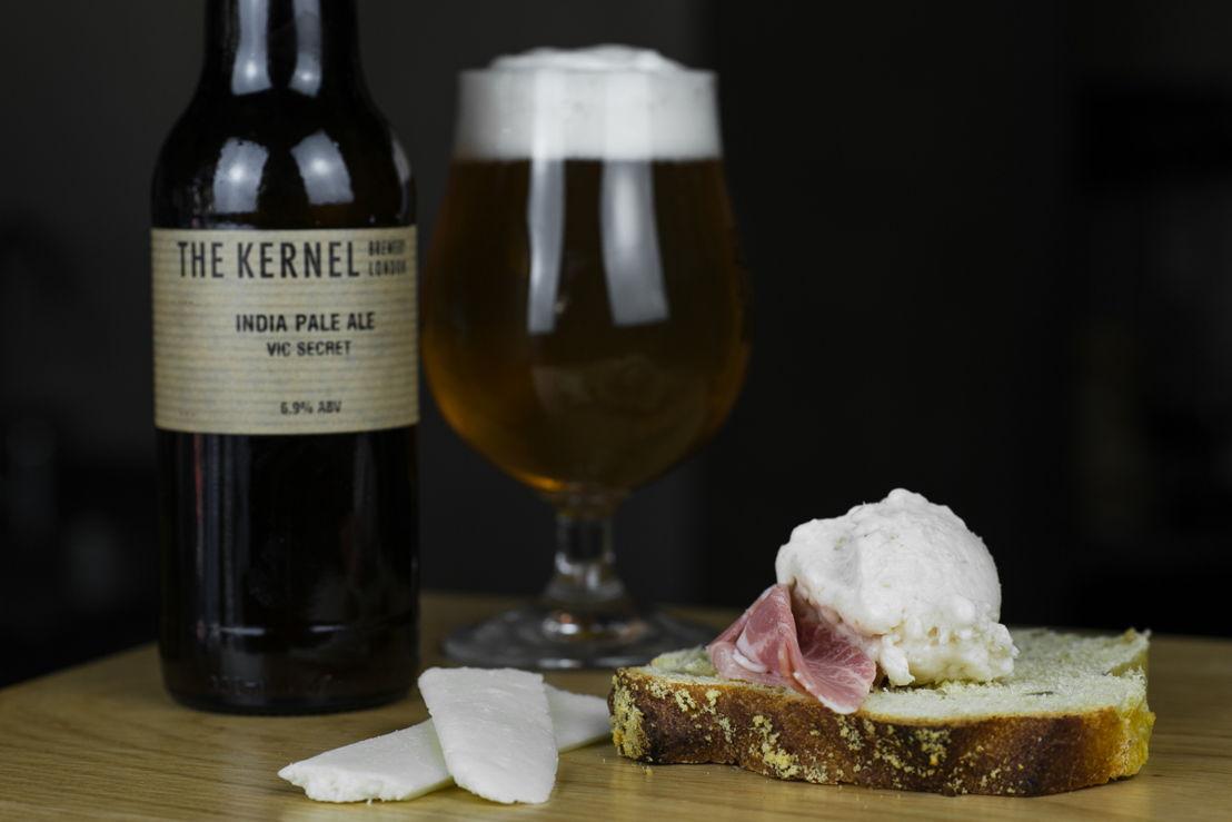 Cremeria Capolinea, Gelato al Tosone e spalla di San Secondo con birra The Kernel