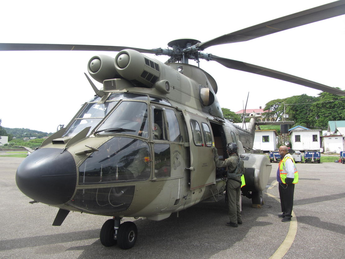 Venezuelan Helicopter arrives in Saint Lucia.