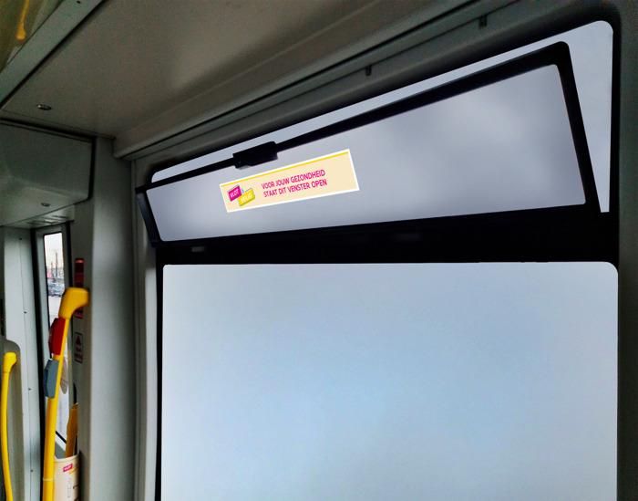 De Lijn zet de vensters open: verluchten als preventieve maatregel tegen corona, ook als het vriest
