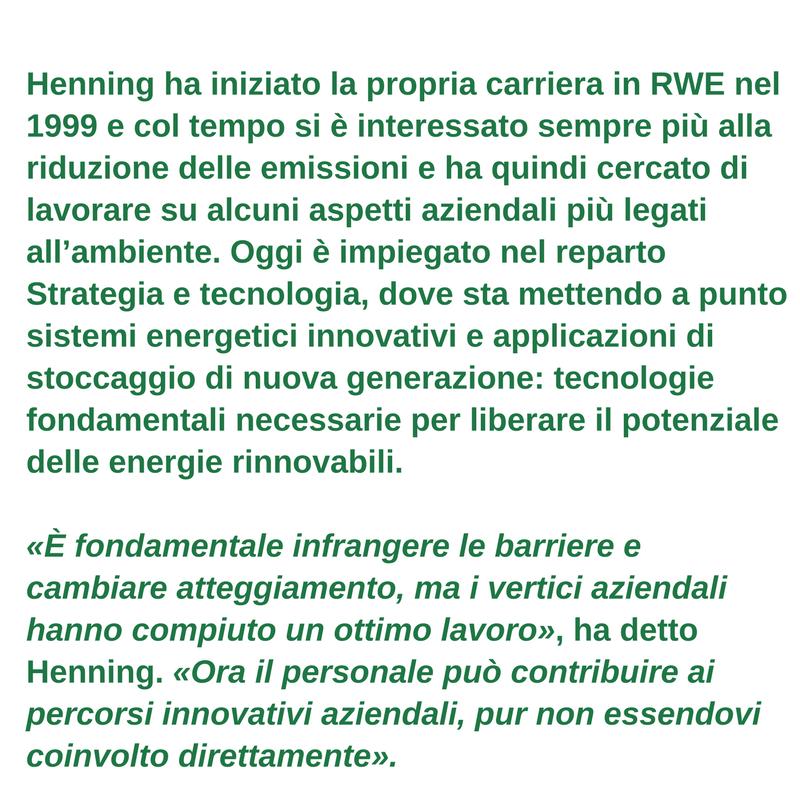 Profilo del lavoratore verde - Henning Joswig