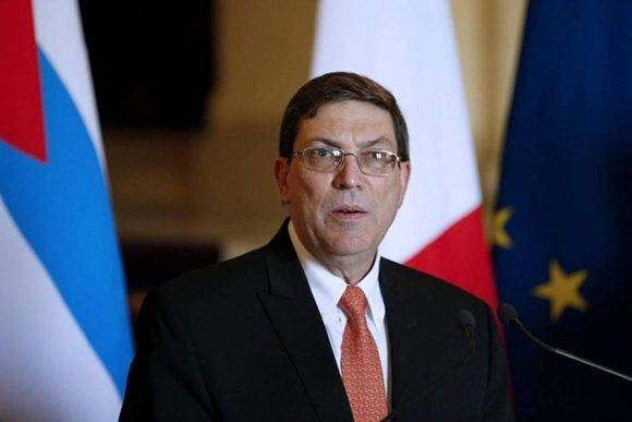 The Minister of Foreign Affairs of Cuba, Bruno Rodríguez Parrilla